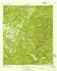 Blocton, Alabama 1934 (1956) USGS Old Topo Map Reprint 15x15 AL Quad 305509