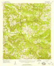 Braggs, Alabama 1957 (1958) USGS Old Topo Map Reprint 15x15 AL Quad 305515