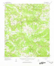 Braggs, Alabama 1957 (1958) USGS Old Topo Map Reprint 15x15 AL Quad 305516