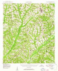 Brundidge, Alabama 1950 (1950) USGS Old Topo Map Reprint 15x15 AL Quad 305519