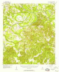 Carlowville, Alabama 1957 (1958) USGS Old Topo Map Reprint 15x15 AL Quad 305520
