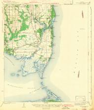 Cedar Point, Alabama 1943 (1943) USGS Old Topo Map Reprint 15x15 AL Quad 305526