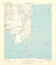Cedar Point, Alabama 1941 (1959) USGS Old Topo Map Reprint 15x15 AL Quad 464328