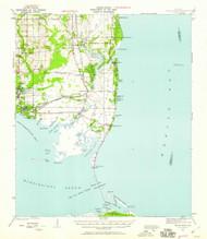 Cedar Point, Alabama 1941 (1941) USGS Old Topo Map Reprint 15x15 AL Quad 305523