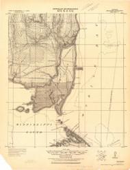 Delchamps, Alabama 1921 (1921) USGS Old Topo Map Reprint 15x15 AL Quad 464365