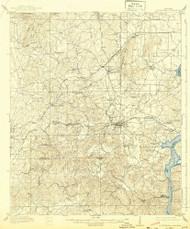 Columbiana, Alabama 1911 (1943) USGS Old Topo Map Reprint 15x15 AL Quad 305538