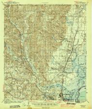 Creola, Alabama 1943 (1943) USGS Old Topo Map Reprint 15x15 AL Quad 305547