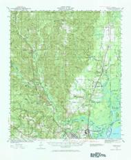 Creola, Alabama 1941 (1984) USGS Old Topo Map Reprint 15x15 AL Quad 305545