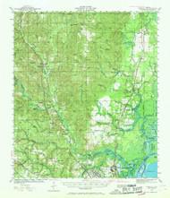 Creola, Alabama 1941 (1969) USGS Old Topo Map Reprint 15x15 AL Quad 305543