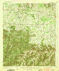 Danville, Alabama 1938 (1938) USGS Old Topo Map Reprint 15x15 AL Quad 305550