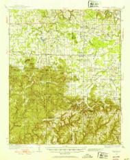 Danville, Alabama 1935 (1953) USGS Old Topo Map Reprint 15x15 AL Quad 305548