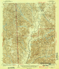 Deer Park, Alabama 1943 (1943) USGS Old Topo Map Reprint 15x15 AL Quad 305553