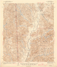 Deer Park, Alabama 1943 (1943) USGS Old Topo Map Reprint 15x15 AL Quad 464357