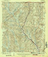 Dyas, Alabama 1944 (1944) USGS Old Topo Map Reprint 15x15 AL Quad 305556