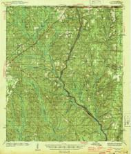 Dyas, Alabama 1944 (1944) USGS Old Topo Map Reprint 15x15 AL Quad 305557
