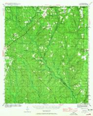 Dyas, Alabama 1942 (1965) USGS Old Topo Map Reprint 15x15 AL Quad 305555