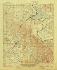Epes, Alabama 1932 (1948) USGS Old Topo Map Reprint 15x15 AL Quad 305565