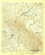 Epes, Alabama 1932 (1932) USGS Old Topo Map Reprint 15x15 AL Quad 305567
