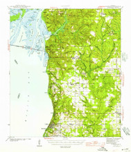 Fairhope, Alabama 1944 (1957) USGS Old Topo Map Reprint 15x15 AL Quad 305575
