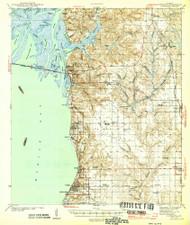 Fairhope, Alabama 1944 (1944) USGS Old Topo Map Reprint 15x15 AL Quad 305574