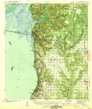 Fairhope, Alabama 1944 (1944) USGS Old Topo Map Reprint 15x15 AL Quad 305573