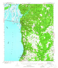 Fairhope, Alabama 1941 (1965) USGS Old Topo Map Reprint 15x15 AL Quad 305572