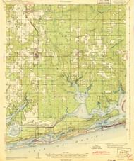 Foley, Alabama 1943 (1943) USGS Old Topo Map Reprint 15x15 AL Quad 305580