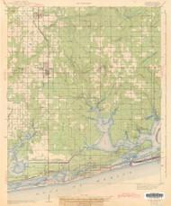 Foley, Alabama 1943 (1943) USGS Old Topo Map Reprint 15x15 AL Quad 464382