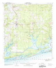 Foley, Alabama 1941 (1984) USGS Old Topo Map Reprint 15x15 AL Quad 305578