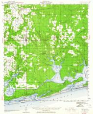Foley, Alabama 1941 (1964) USGS Old Topo Map Reprint 15x15 AL Quad 305577