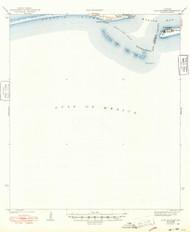 Fort Morgan, Alabama 1942 (1948) USGS Old Topo Map Reprint 15x15 AL Quad 305583
