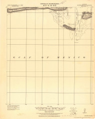 Dauphin Island, Alabama 1921 (1921) USGS Old Topo Map Reprint 15x15 AL Quad 464364