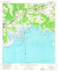 Grand Bay, Alabama 1958 (1965) USGS Old Topo Map Reprint 15x15 AL Quad 305596