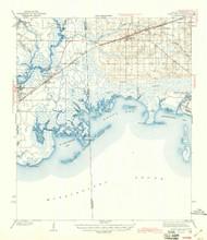 Grand Bay, Alabama 1943 (1943) USGS Old Topo Map Reprint 15x15 AL Quad 305594