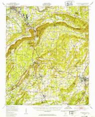 Jacksonville, Alabama 1947 (1953) USGS Old Topo Map Reprint 15x15 AL Quad 305615