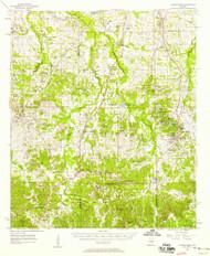 Letohatchee, Alabama 1957 (1958) USGS Old Topo Map Reprint 15x15 AL Quad 305620