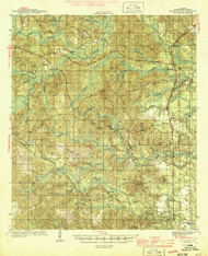 McIntosh, Alabama 1944 (1944) USGS Old Topo Map Reprint 15x15 AL Quad 305623
