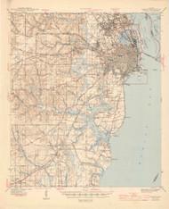 Mobile, Alabama 1944 (1944) USGS Old Topo Map Reprint 15x15 AL Quad 464457