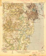Mobile, Alabama 1944 (1944) USGS Old Topo Map Reprint 15x15 AL Quad 305630
