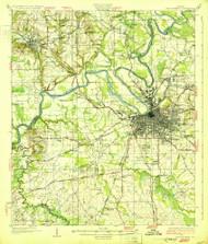 Montgomery, Alabama 1930 (1930) USGS Old Topo Map Reprint 15x15 AL Quad 305641