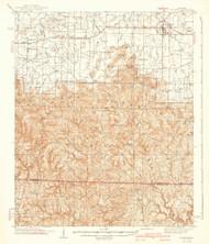 Mt Hope, Alabama 1940 (1940) USGS Old Topo Map Reprint 15x15 AL Quad 464470
