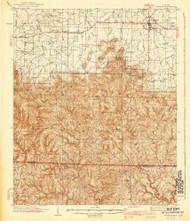 Mt Hope, Alabama 1940 (1940) USGS Old Topo Map Reprint 15x15 AL Quad 305646
