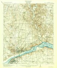 Muscle Shoals, Alabama 1916 (1916) USGS Old Topo Map Reprint 15x15 AL Quad 305649