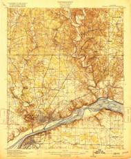Muscle Shoals, Alabama 1916 (1916) USGS Old Topo Map Reprint 15x15 AL Quad 305648