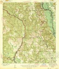 Muscogee, Alabama 1943 (1943) USGS Old Topo Map Reprint 15x15 AL Quad 347589