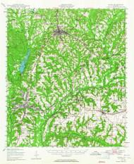 Ozark, Alabama 1948 (1965) USGS Old Topo Map Reprint 15x15 AL Quad 305650