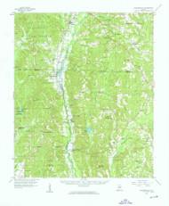 Plantersville, Alabama 1959 (1959) USGS Old Topo Map Reprint 15x15 AL Quad 305658