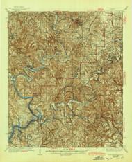 Port Birmingham, Alabama 1938 (1944) USGS Old Topo Map Reprint 15x15 AL Quad 305663