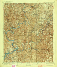 Port Birmingham, Alabama 1938 (1938) USGS Old Topo Map Reprint 15x15 AL Quad 305662