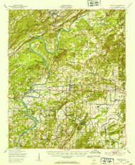 Ragland, Alabama 1947 (1953) USGS Old Topo Map Reprint 15x15 AL Quad 305665